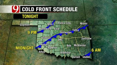 Cold Front On The Way To Oklahoma - News 9